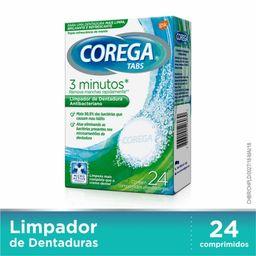 Corega Tabs efervescente branqueador 24 comprimidos