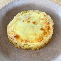 Quiche de cebola com queijo coalho congelado