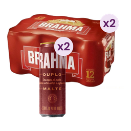 Combo 2 Packs Brahma Chopp + 2 Cervejas Brahma Duplo Malte