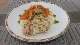 Talharim de Legumes com Peixe Grelhado