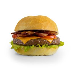 Cheeseburger cordeiro bacon.
