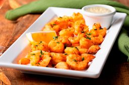 Garlic Alfredo Shrimp Fritta
