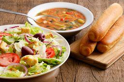 Soup, Salad & Breadsticks