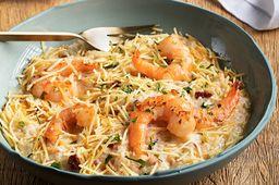 Creamy Rice Shrimp Alfredo