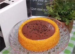 Bolo Piscininha de Cenoura com Chocolate