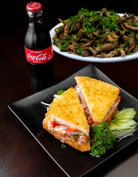 Combo Shimeji, Burger e Coca Cola 250ml