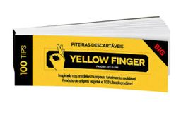 Cartela Yellow Finger Big - 100 Tips
