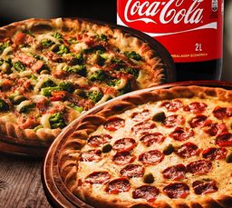 Combo 2 Pizzas Mini e Coca-Cola 350ml
