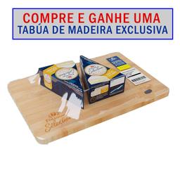 Kit tabua de madeira + Queijos Brie Polenghi - Cód 316187