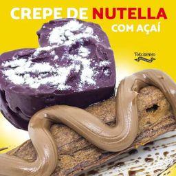 Crepe de Açaí com Nutella