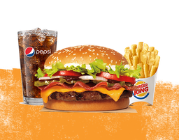 Combo Whopper Barbecue Bacon