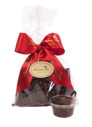 Lascas de Chocolate com Pimenta Rosa