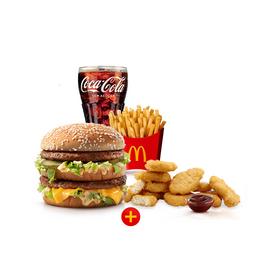 McOferta Média + 10 Chicken McNuggets + 1 Molho
