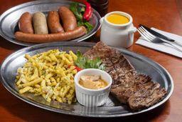 Combinado de Salsichas, Filé Mignon e Spatzle