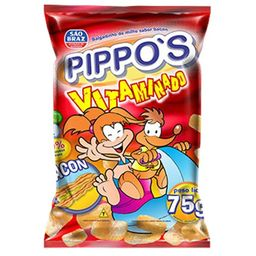 Salgadinho Pippos Vitaminado de Bacon - 75g