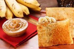 Pastel Banana com Doce de Leite