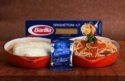 Polpetoni de Mignon Recheado e Spaghetttoni
