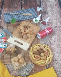 50 Salgados Fritos + 2x Coca Cola 310 ml