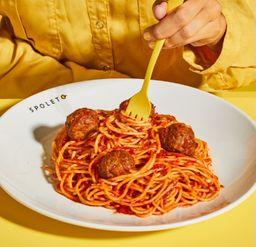 Spaghetti com almôndegas do futuro