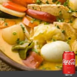 Combo Peixada Brasileira e Coca-Cola 350ml