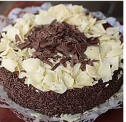 Torta de Mousse de Chocolate - Fatia