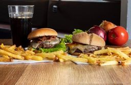 1 Mini Burger + Batata + Coca-cola 220 ml