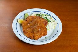 Schnitzel com Salada de Batata