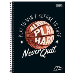 Caderno Univ 1X1 - 96 F - Never Quit