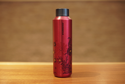 Tumbler Floral Rosa - Inox