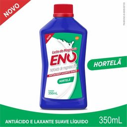 Eno Leite Magnesia Anti Acido Hortela 350Ml