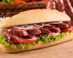 Sanduíche de Linguiça Calabresa