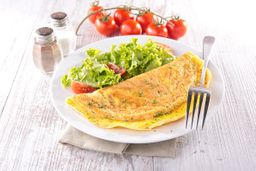 Omelete de Presunto com Queijo e Ervas
