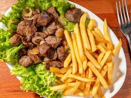 Carne de Trichada com Batatas Fritas 200g