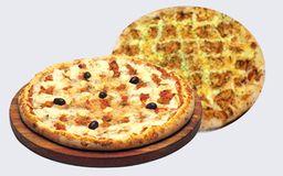 Pizza da Rainha 45 cm + Pizza Tradicional 30 cm + Bebida