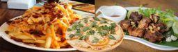 Pizza 35 cm + Batata Cheddar e Bacon 800g + Frango a Passarinho