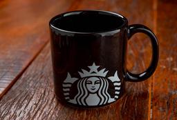 Caneca Starbucks Preta 100ml