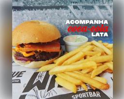 Combo Wave Bacon + Batata Frita + Coca-Cola Lata