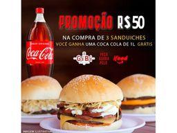 3 Sanduíches e Guarana Antárctica  1L