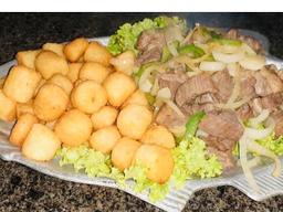 Bolinho de Carne Seca com Mandioca - 10 Unidades