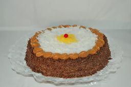 Torta de Brigadeiro com Coco