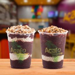2 copos Açaí Tradicional 300ml com granola