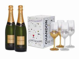 Champagne Chandon Brut + Taças - 322607