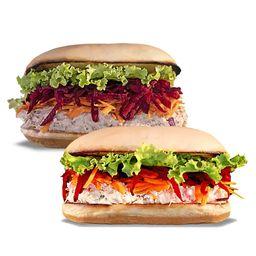Combo 2 Sanduíches Naturais