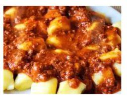 Nhoque de batata doce a Bolonhesa