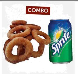 Refrigerante + Onion Rings