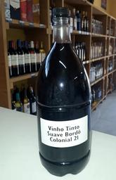 Vinho tinto suave bordo colonial 2 litros