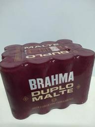 Cerveja brahma duplo malte 350ml pack com 12