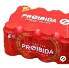 Cerveja proibida pack lata 12 350 ml