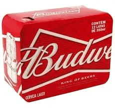 Cerveja budweiser lata 350 ml  pack 12