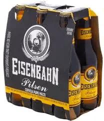 Cerveja eisenbahn pilsen long neck pack 6 355ml